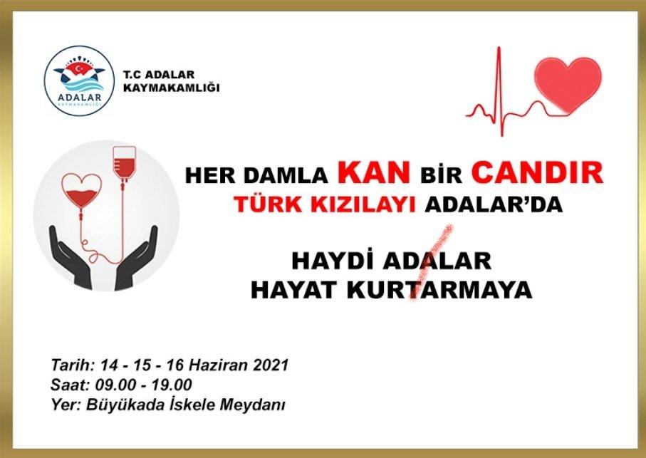 Adalarda Kan Bağışı Kampanyası