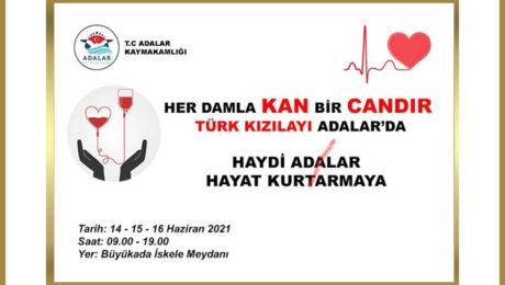 Adalarda Kan Bağış Kampanyası